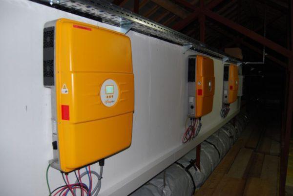 Mala sončna elektrarna na telovadnici Voličina 6