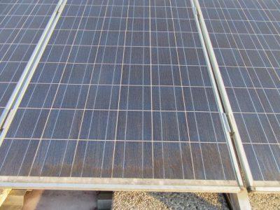 sončna elektrarna čiščenje